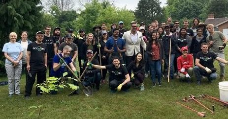 On June 27, the Niagara Peninsula Conservation Authority (NPCA) teamed up with about 50 Google DoubleClick employees to maintain a pollinator garden planted at William Nassau Park in Niagara- on-the-Lake in 2013.