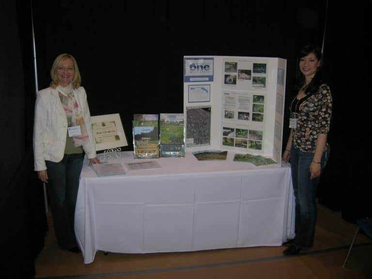 Display at Niagara College open house in 2008