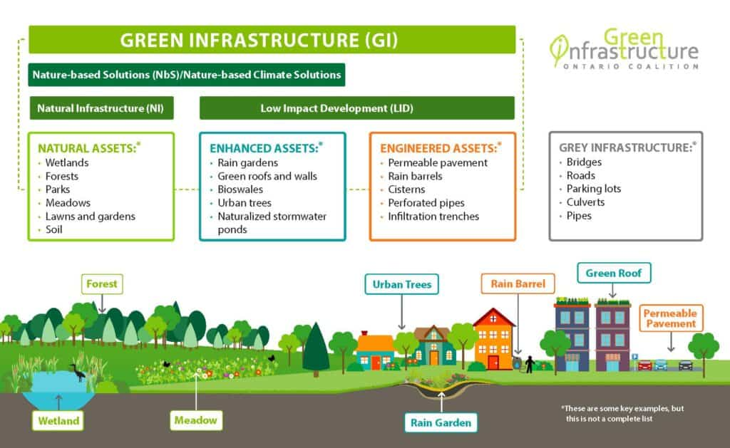 Green infrastructure fits into the overall development picture